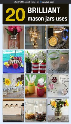 I use mason jars for just about everything, but these project ideas are blowing my mind! How did they come up with these?! So cool!