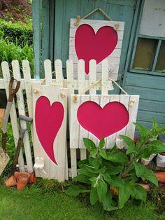 Pallet Garden Hearts