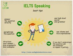 IELTS TIPS -Unik Global Services are you interested in studying abroad?here is tips for students working towards the ielts test,the world's most popular english language proficiency test,helps you to get through and increase your test score. English Exam, English Writing, English Study, English Words, English Grammar, Learn English, English Class, English Speaking Skills, English Language Learning
