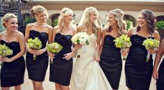 black bridesmaids - Had black bridesmaids and LOVED it!