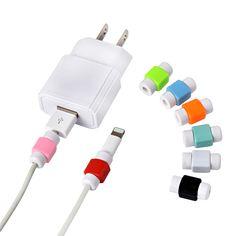 10 unids/lote protecotor mangas protectoras protector de cable para enrollar el cable de silicona cable digital para iphone ipad