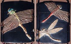 Lacquered case with dragon fly design.Japan, end-1st millennium B.C. The Metropolitan Museum of Art