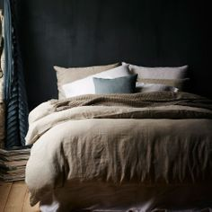 bedding quilts, Vintage Washed Bed Linen