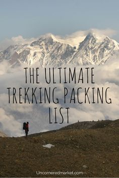 How and what to pack for a multi-day trek or hike. Covers every bit of trekking gear, from clothes to bags to medicines needed.