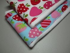 Strawberry Burp Clothes Ann Kelle Metro Market by adrisadorables, $13.00 Makes a cute gift!