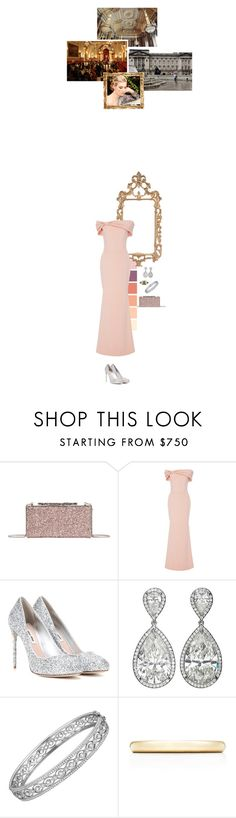 """""""(V) Hosts a gala to celebrate the Royal College of Music at Buckingham Palace"""" by immortal-longings ❤ liked on Polyvore featuring Jimmy Choo, Christian Siriano, Miu Miu, Hamilton and Tiffany & Co."""