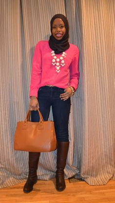 Casual Winter Wear: Neon Pink and Snow White {plus a Quick Review of Holt Renfrew Mega Sale}