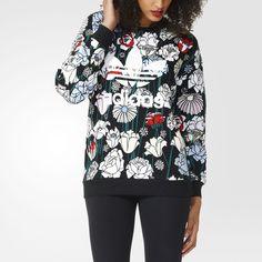 adidas Originals Womens Floral Trefoil Sweater Jumper Sweatshirt | B36939 12 | eBay