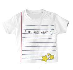 Camiseta libreta. I'm the star!
