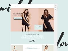 Serenity mood and fashion style is something new to me. Exploring new directions and challenging myself to grow with this homepage concept for our new Shopify theme.