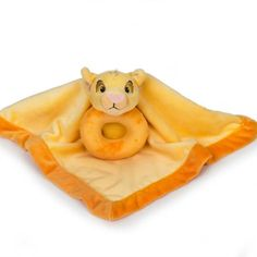 THE LION KING Simba Security Blanket and Ring Rattle Set