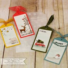 Image result for christmas tags stampin up 2017