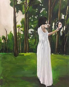 A drowsy numbness pains my sense Priscilla de Paula oleo s tela Contemporary Paintings, White Dress, Artwork, Tela, Pintura, Work Of Art, Auguste Rodin Artwork, Artworks, Illustrators