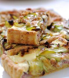 Τάρτα με κολοκύθια, μπέικον και φέτα