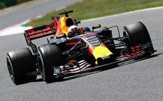 壁紙をダウンロードする ダニエル-Ricciardo, レッドブルRB13, 2017, 式1, Redbull, F1, レーシングカー