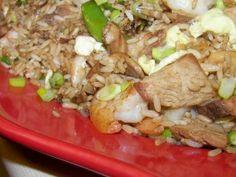 Fried Rice With Shrimp, Pork, Shiitake M...