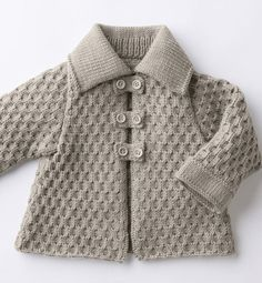 Modèle veste en jersey layette