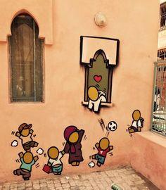 Le graffeur JACE réalise un parcours à Marrakech (PHOTOS) Tag Street Art, Street Art Graffiti, Pablo Picasso, Marrakech, Perspective Drawing Lessons, Urbane Kunst, Atelier D Art, Green Street, Ecole Art