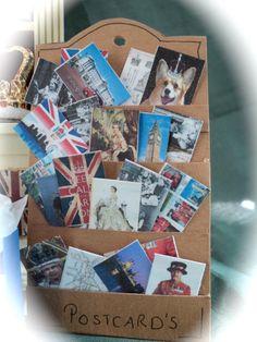 Dolls House Miniatures - London / Royal Postcards in Rack