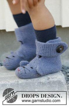 Çocuk örgü çorap modeli