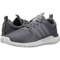 adidas Cloudfoam Lite Racer (Onix/Onix/Clear Onix) Men's Running Shoes ($53) ❤ liked on Polyvore featuring men's fashion, men's shoes, men's sneakers, brown, mens shoes, mens brown shoes, mens sneakers, mens running shoes and mens running sneakers