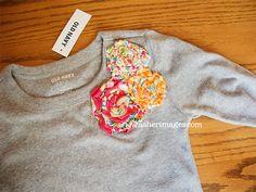 Fabric Rosette T-Shirt Embellishment Tutorial
