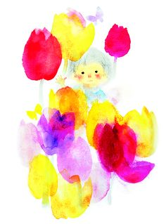いわさきちひろchihiro_iwasaki Children's Book Illustration, Watercolor Illustration, Japanese Watercolor, Japanese Artists, Illustrations And Posters, Watercolor Paintings, Cartoon Art, Drawings, Painted Wood