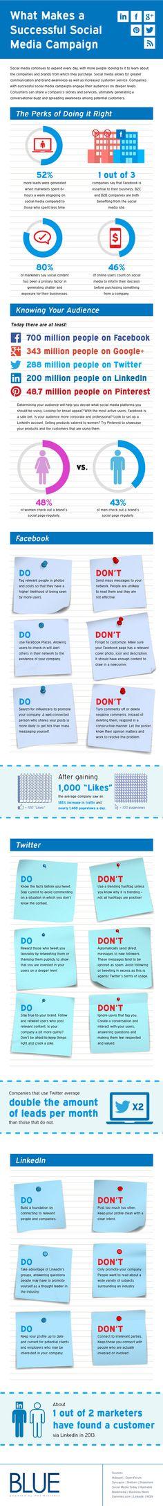 Wat maakt een social media campagne succesvol? [infographic]