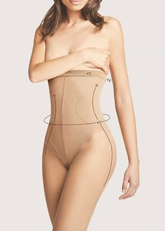 0cbc6fcf2c3 Fiore Bodycare High Waist Bikini 20 Shaping Tights In Stock At UK Tights