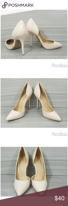 "Nude D'orsay Heels PU leather pump with a hidden platform and single open-shank d¹orsay silhouette.Approx. Heel Height: 5""Approx. Synthetic Upper,Man Made Sole JustFab Shoes Heels"