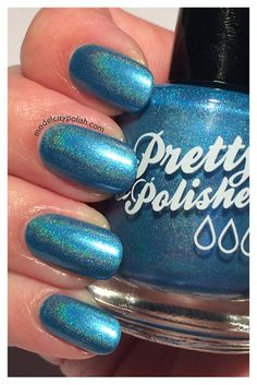 Poolside Holographic Full Sized Nail Polish by PrettyandPolished