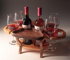 Fine Wine Caddy 2 Bottle 4 Glasses on Winesterr