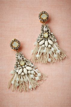 Tasseled Chandeliers in Shoes & Accessories Jewelry at BHLDN: I need these!