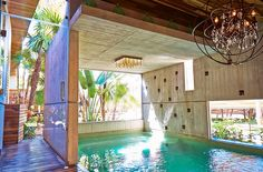 The Yäan Wellness Energy Spa in Tulum has a mission: to help you heal, renew & relax. Once you enter the resort, you are immersed in the healing powers of this special place. Enjoy purified crystalline water pools, a sauna & steam room, herbal & flowers baths & all of the traditional spa remedies you'd expect from a top level wellness retreat. Our favorite part of this escape, is the copper bath you get to soak in in your room at the end of a healing day.