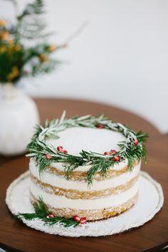 Holiday naked cake