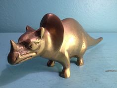 Brass Triceratops Dinosaur   Free Shipping by andantiques on Etsy, $62.00