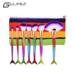 face painting GUJHUI 7pcs Colorful Gradient Eyebrow Eyeline Lips Cheeks Tool for Daily Professional and High Quality Mermaid Makeup Brushes * Detailed information can be found on AliExpress website by clicking on the VISIT button