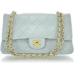 af2eec232a2b This is an authentic CHANEL Vintage Lambskin Quilted Medium Double Flap  Light Blue. This stylish vintage shoulder bag is crafted of luxurious  diamond ...