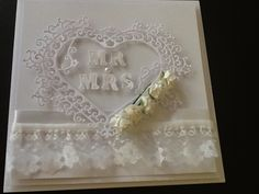 love this Wedding card made using tattered lace dies!