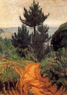 El pino. 1900. Óleo sobre lienzo. 95,1 x 68,1 cm. Colección particular. Obra de Nicanor Piñole