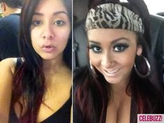 Snooki without makeup- there must be a lesson here