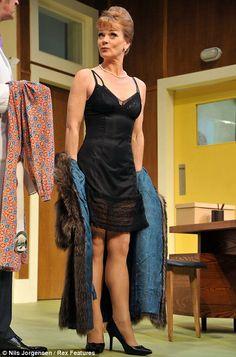 Samantha Bond - former Miss Moneypenny Samantha Bond, British Celebrities, Black Silk Dress, Bond Girls, Vintage Fashion, Poses, Lady, Dresses, Style