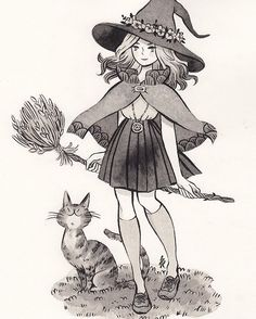 Witchsona commission for @taryndraws Thank you so much for commissioning me! #witchsona #commission #ink