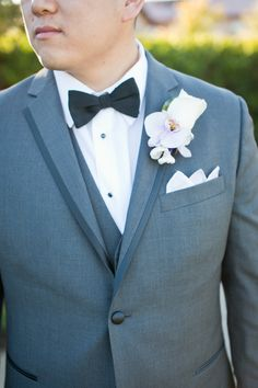 Classic Suit with Elegant Boutonnieres