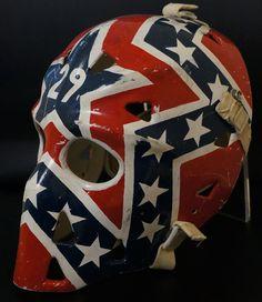 Mike Palmateer Game Used Mask - Washington Capitals Goalie Gear, Goalie Mask, Hockey Goalie, Hockey Teams, Ice Hockey, Hockey Stuff, Ballistic Mask, Native American Humor, Nhl Washington Capitals