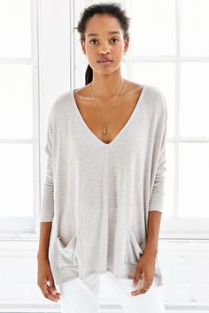 BDG Phoebe Pocket Top (size xs in taupe)