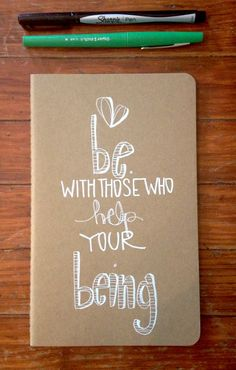 sending you a little reminder. today. :: rumi.  a hand illustrated kraft moleskine journal by kelly barton