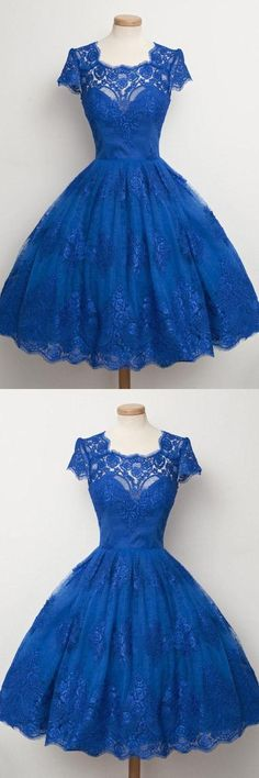vintage dresses,lace homecoming dresses,blue homecoming dresses,short homecoming dresses >>>dresses like this are amazing Royal Blue Homecoming Dresses, Princess Prom Dresses, A Line Prom Dresses, Cheap Prom Dresses, Evening Dresses, Dress Prom, Party Dress, Dress Lace, Dress Wedding