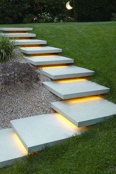 Great modern idea for stairs in tiered landscaping. I'd love to know who did this...and how! #modernbackyard #landscape #landscapedesign