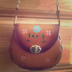 "Handmade Floral Purse Beautiful handmade floral purse from Mexico. Twist lock. Strap drop: 23"". Purse length: 7"". Purse height: 5.5"". Handmade Bags Crossbody Bags"